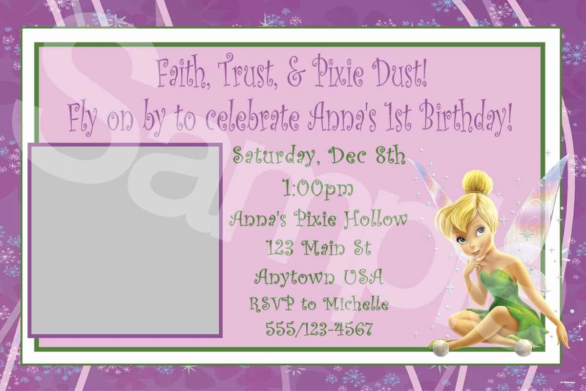 Free Tinkerbell Printable Birthday Invitations - Tduck.ca - Free Printable Tinkerbell Baby Shower Invitations