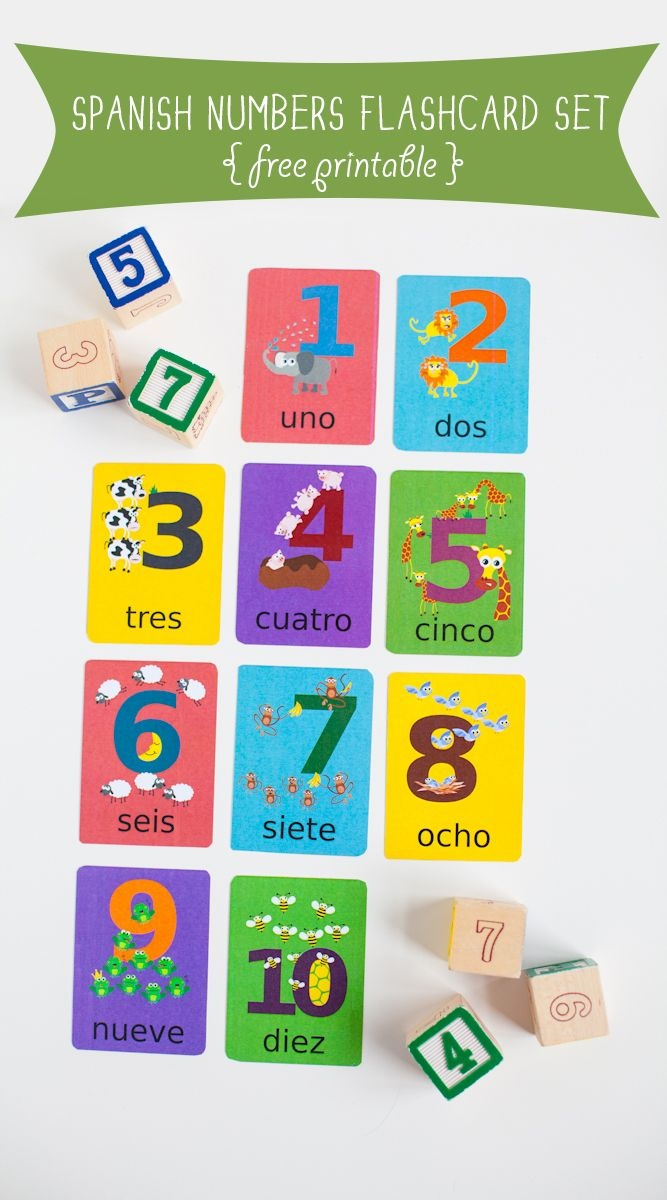 Free To Download Spanish Numbers Flashcards Printable | Free - Free Printable Spanish Numbers