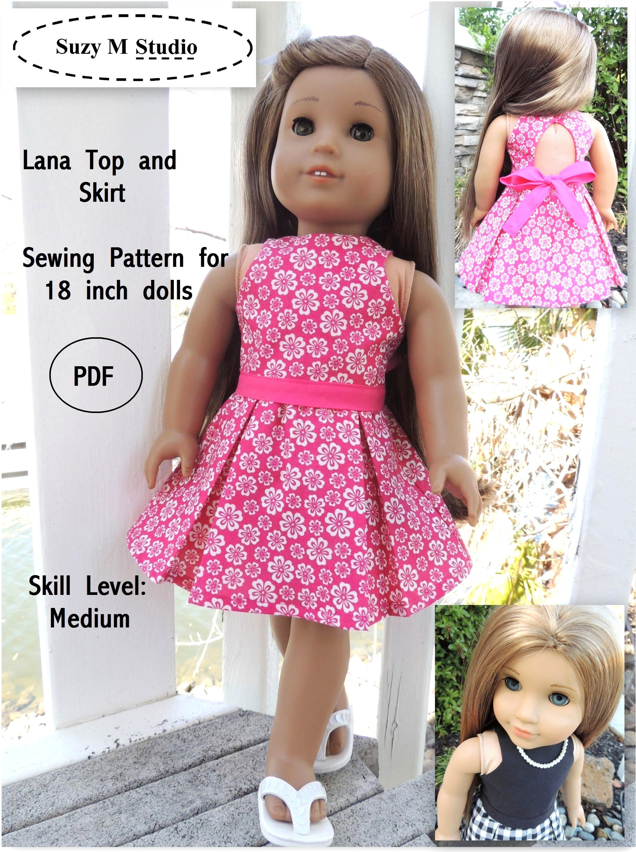 Free Tutorial Pdf | Suzymstudio … | Doll Clothes | Girl … - American Girl Clothes Patterns Free Printable