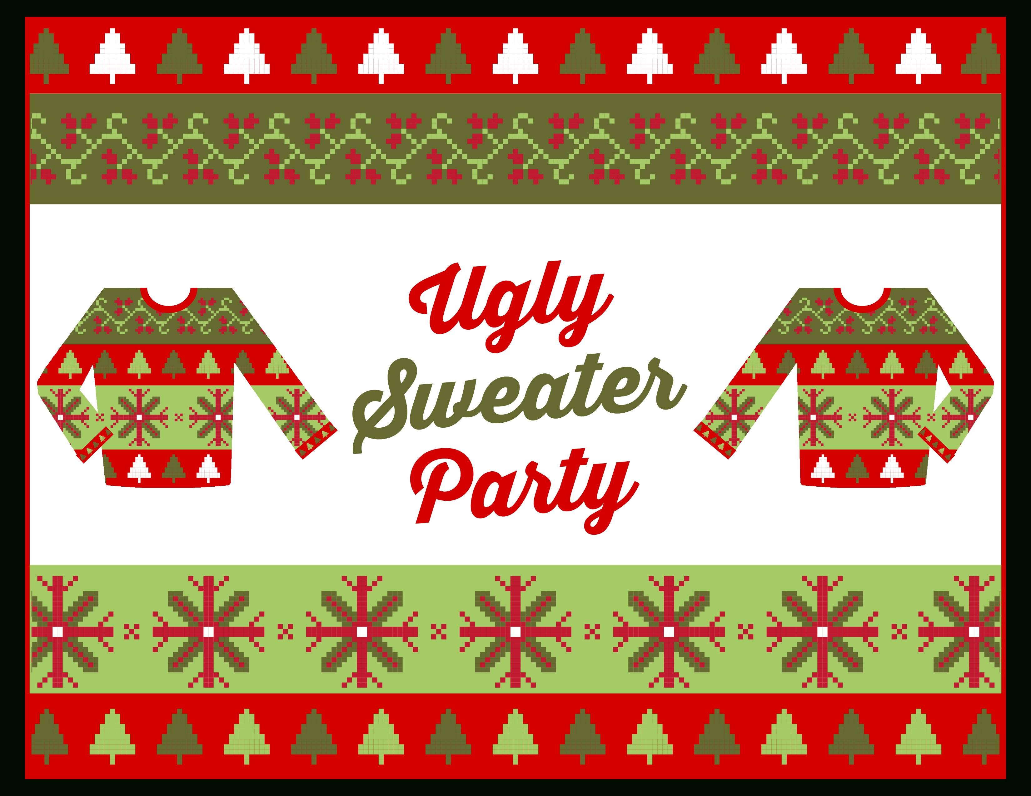 Free Ugly Sweater Party Printables | Catch My Party - Free Printable Christmas Party Signs