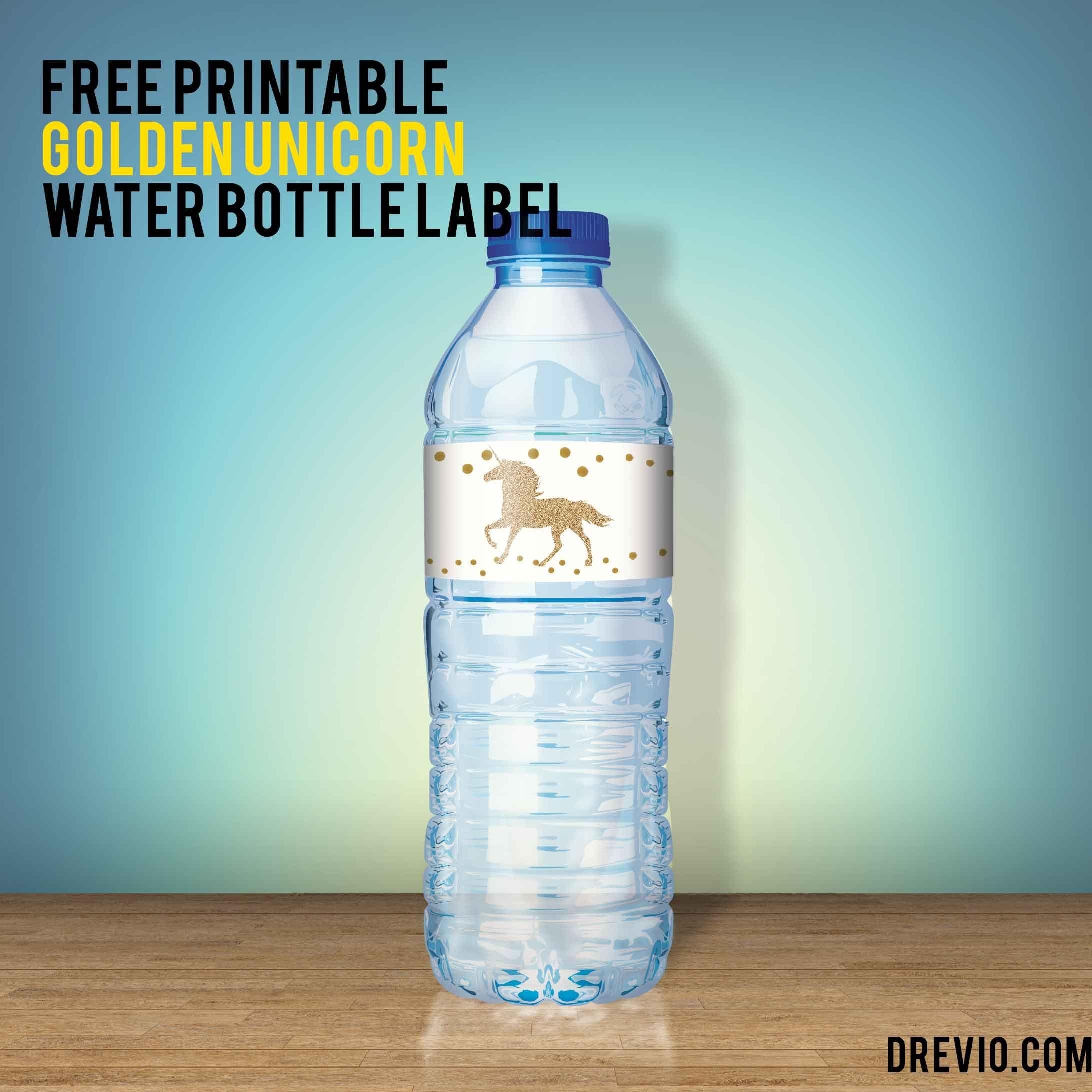 Free Unicorn Water Bottle Label - | Free Printable Birthday - Free Printable Water Bottle Labels For Birthday
