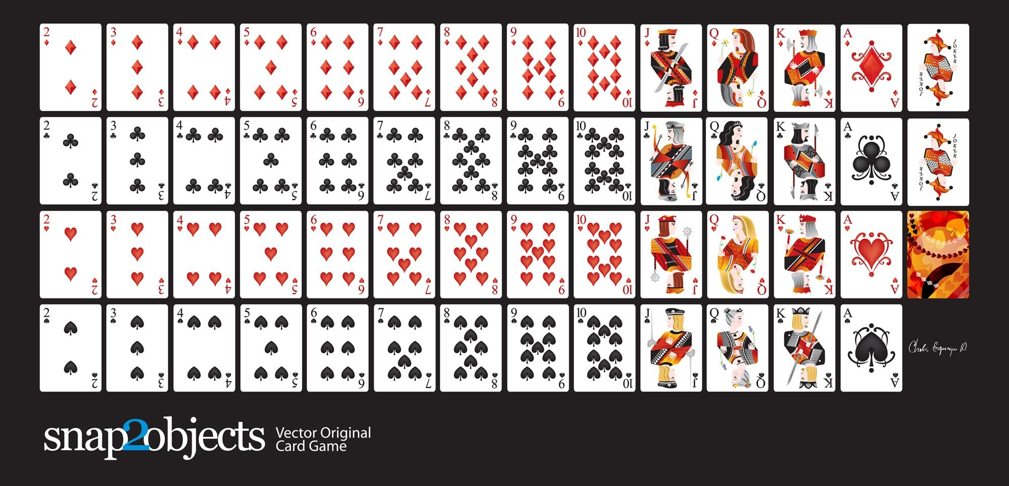 Free-Vector-Card-Deck | Silhouette Cameo | Cards, Printable Playing - Free Printable Deck Of Cards