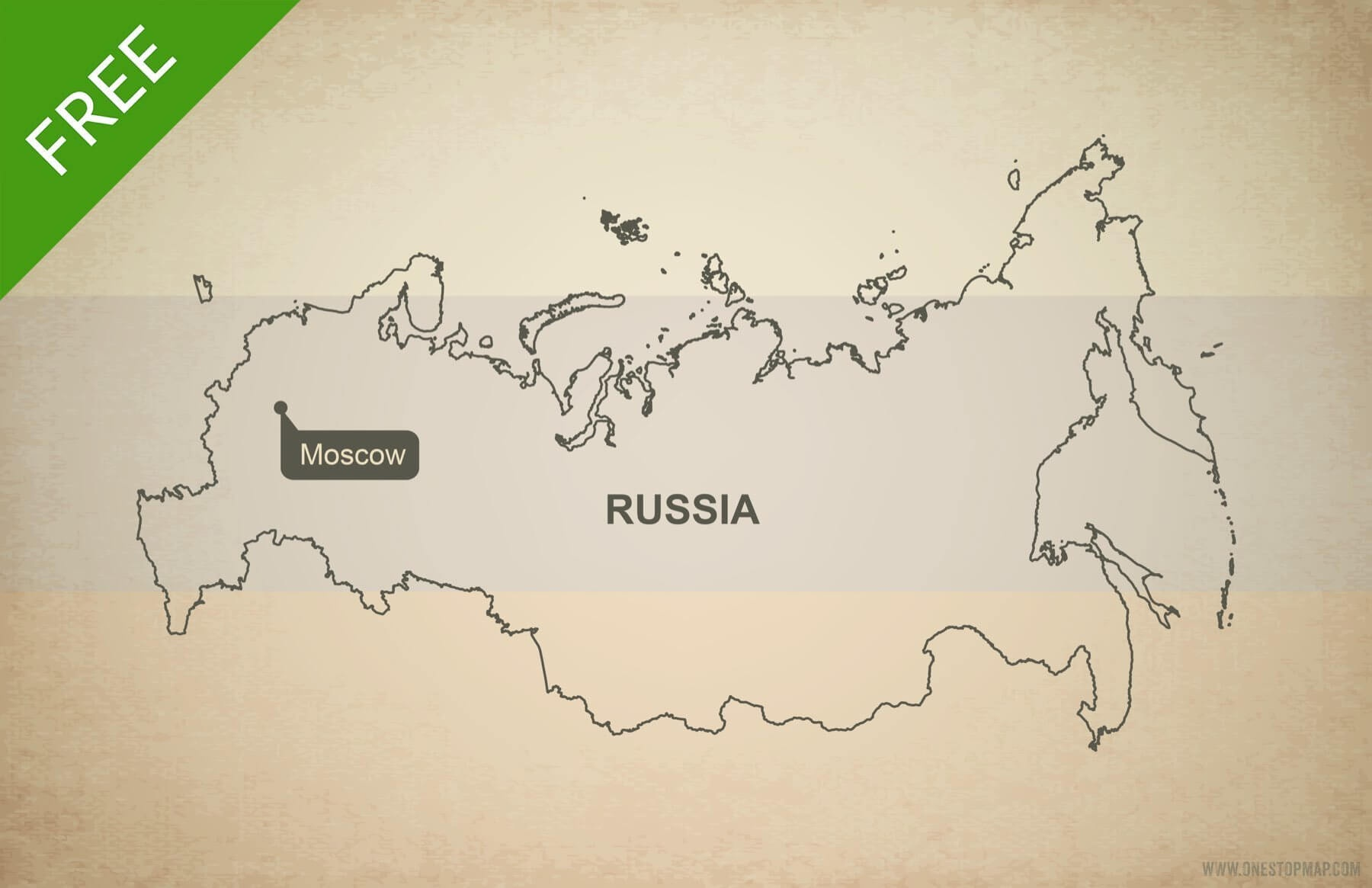 Free Vector Map Of Russia Outline | One Stop Map - Free Printable Map Of Russia