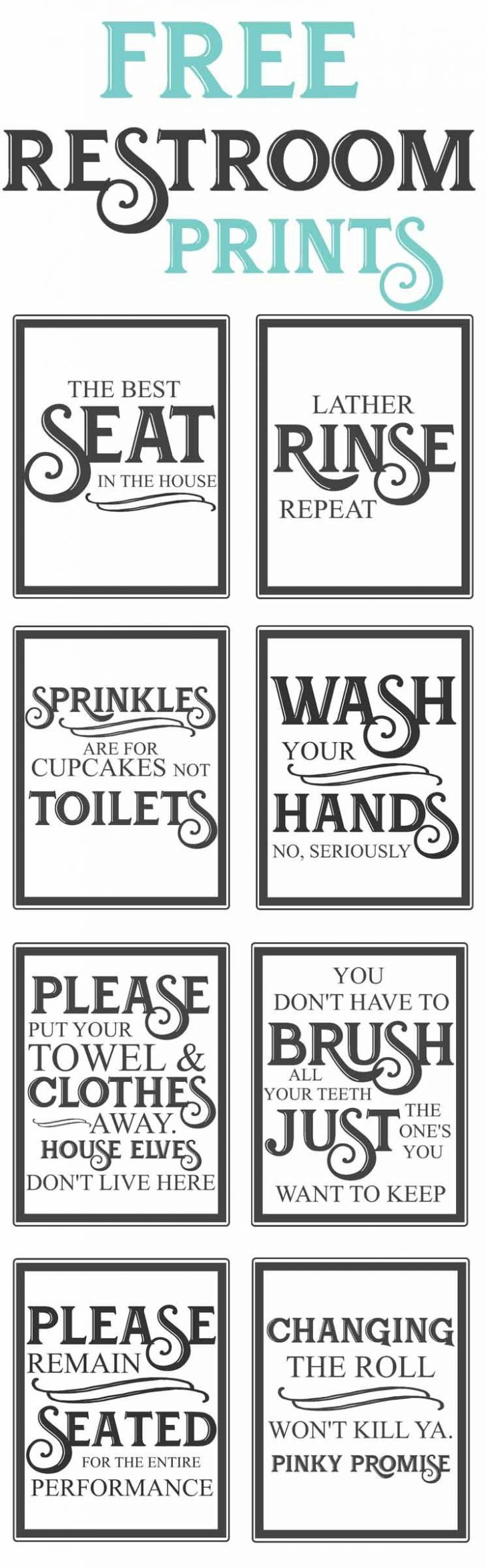 Free Printable Bathroom Signs