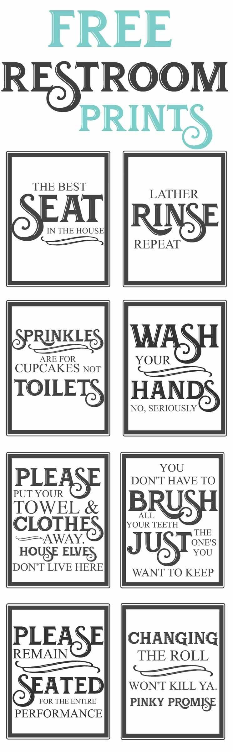 Free Vintage Bathroom Printables | Diy | Vintage Bathrooms, Diy Home - Free Printable Bathroom Signs