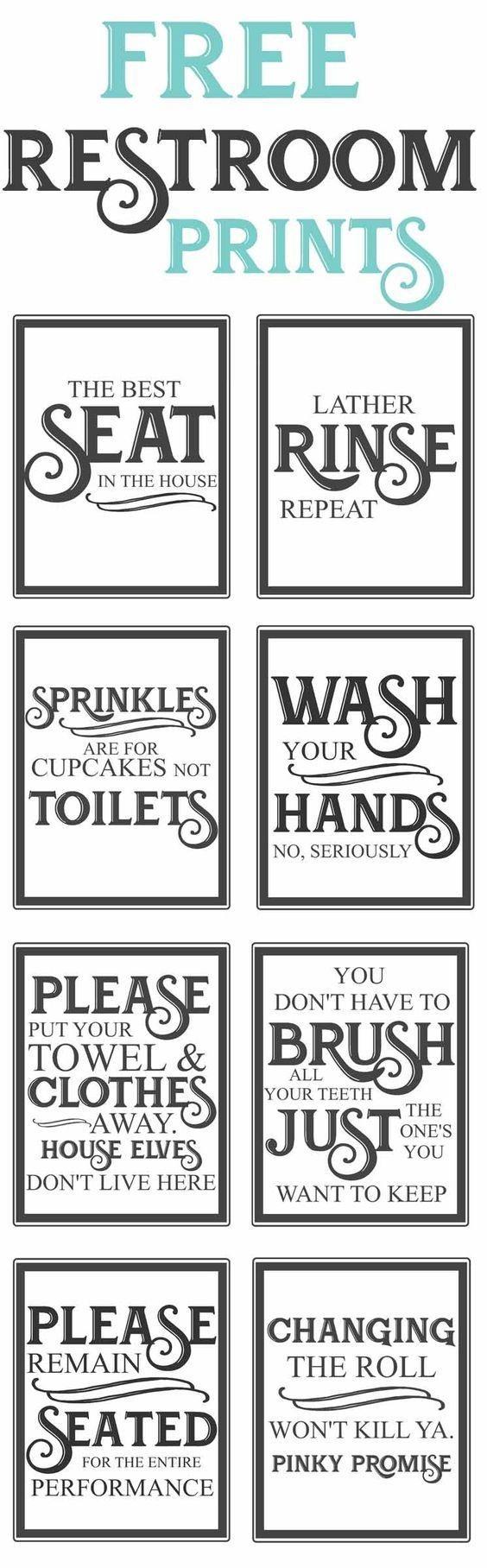 Free Vintage Bathroom Printables | Favorite Diy And Best Crafts - Free Printable Custom Signs