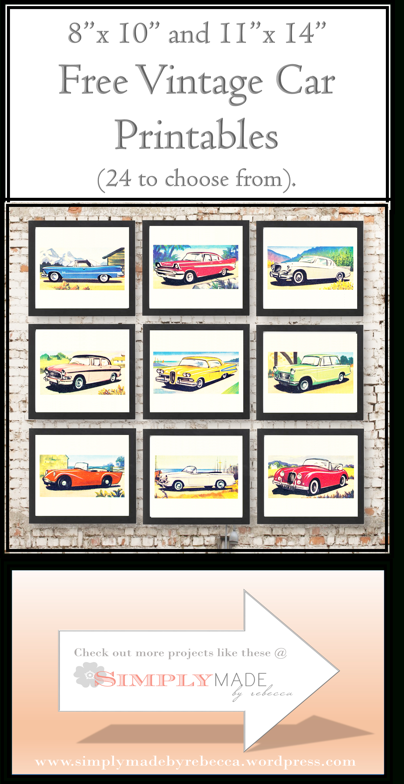 Free Vintage Car Printables | Cards - Downloadable Resources - Free - Free Printable Nursery Resources