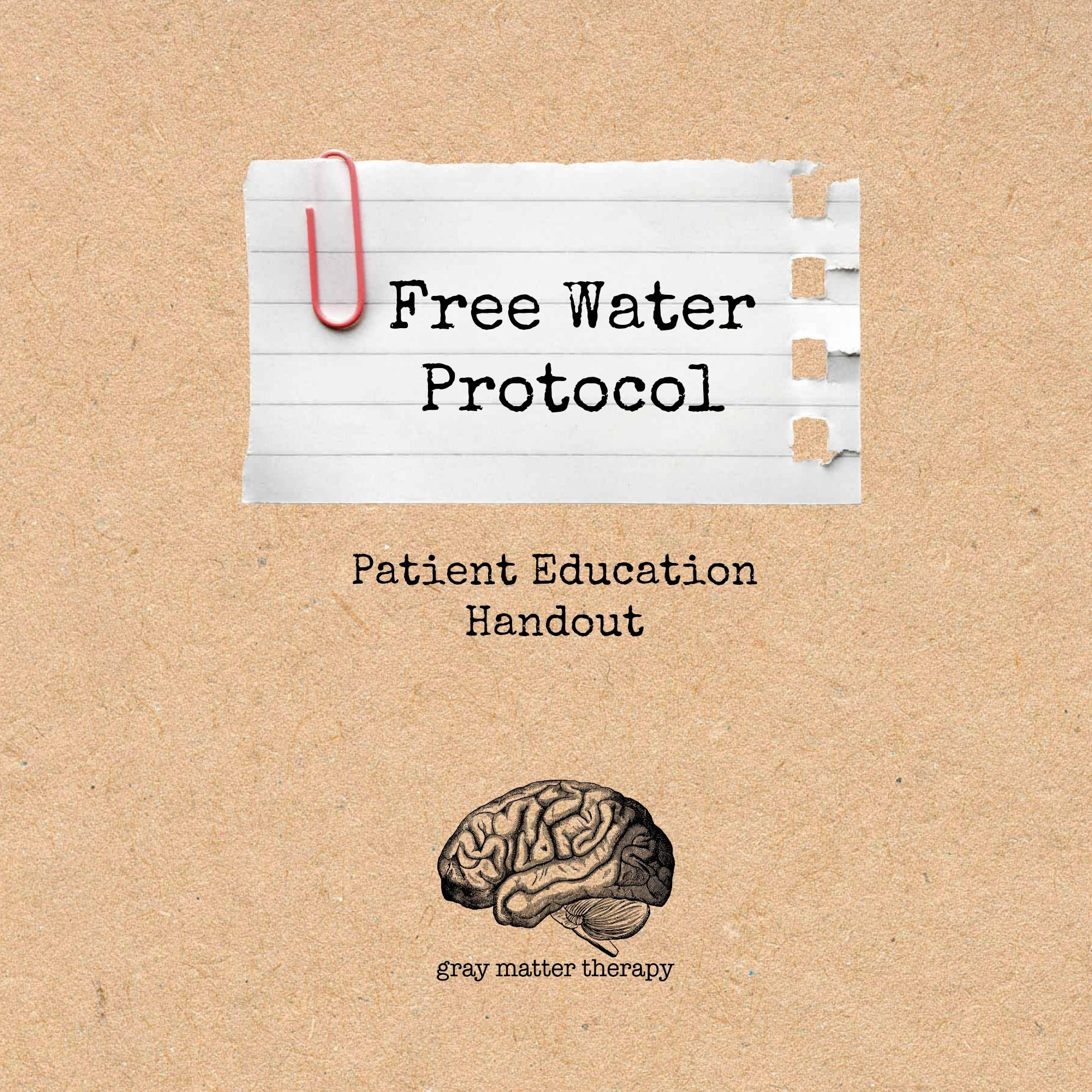 Free Water Protocol Patient Education Handout | Swallowing | Aphasia - Free Printable Patient Education Handouts