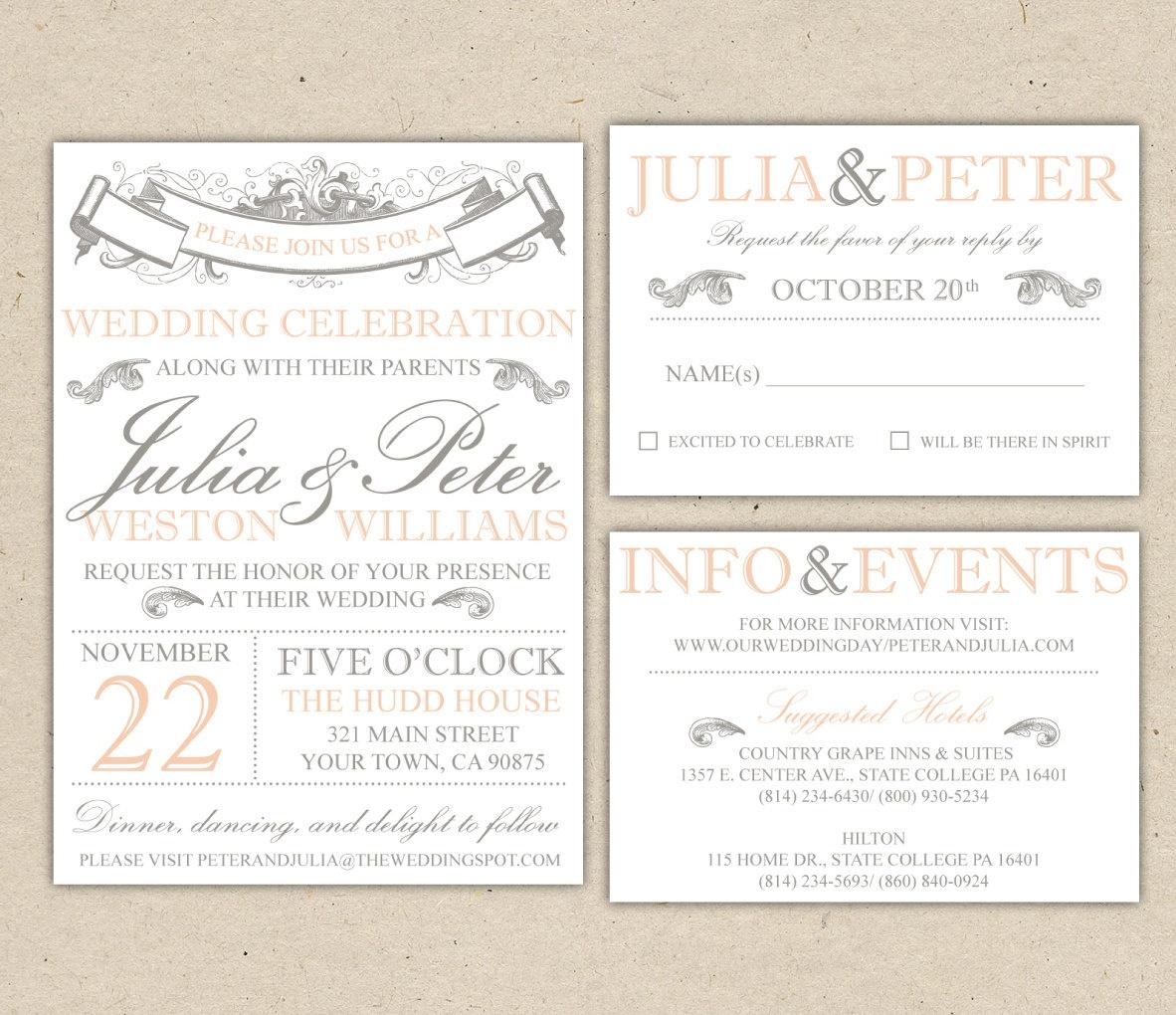 Free Wedding Invitation Templates For Word   Marina Gallery Fine Art - Free Printable Wedding Invitation Templates