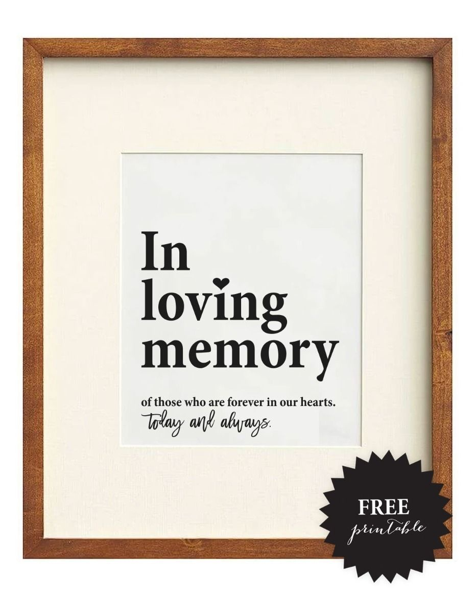 Free Wedding Memorial Signs + 5 Remembrance Ideas   Wedding Signs - Free Printable Wedding Signs