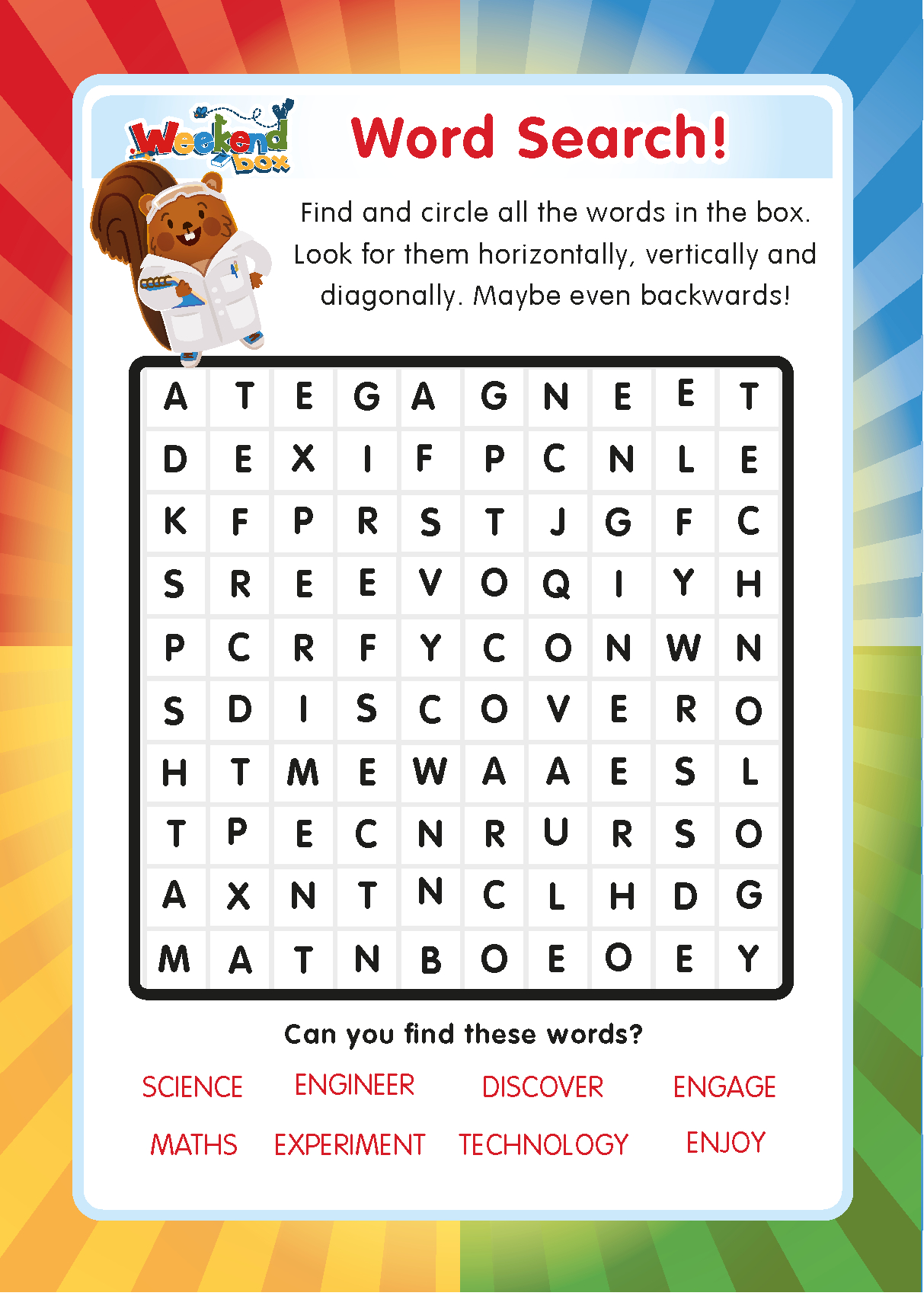 Free Weekend Box Club Printable Word Search Puzzles For Children - Free Online Printable Word Search