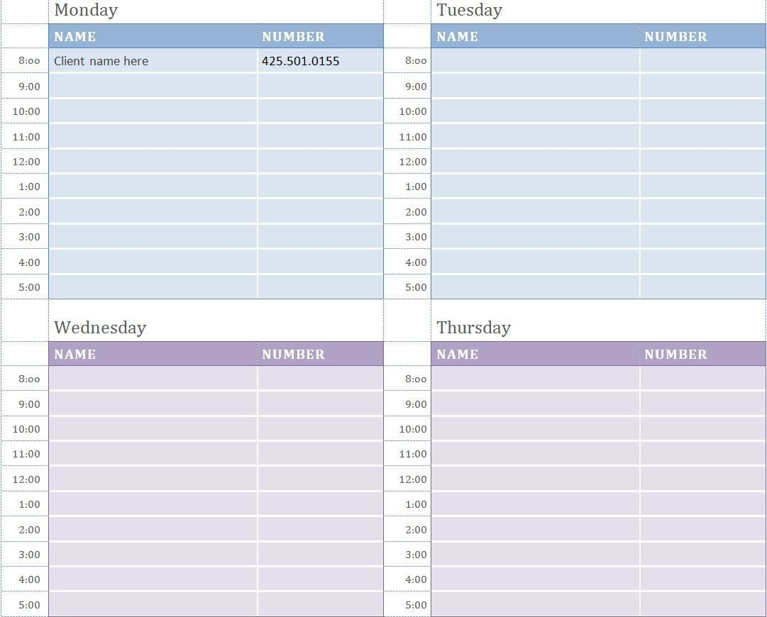 Free Weekly Appointment Calendar | Work | Appointment Calendar - Free Printable Appointment Sheets