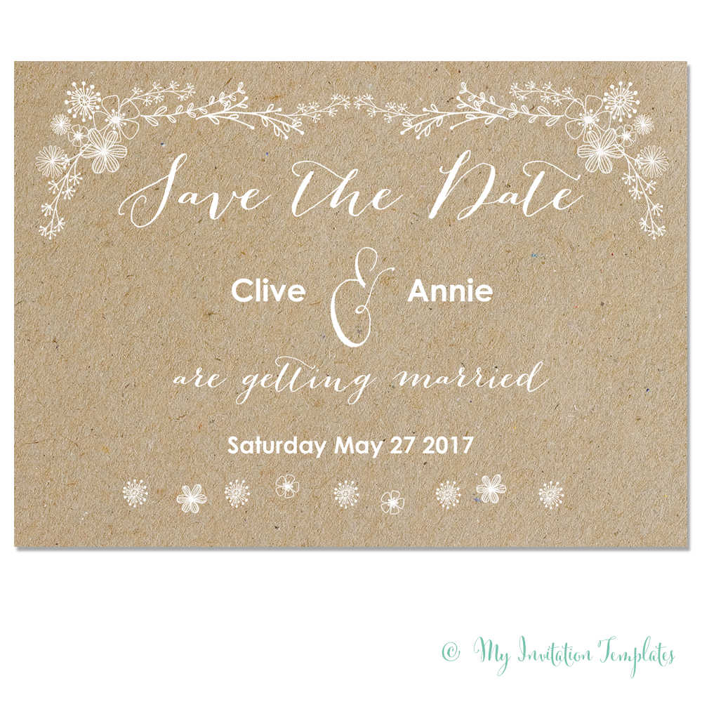 Free Whimsical Save The Dates | Wedding | Save The Date, Backyard - Free Printable Save The Date Invitation Templates