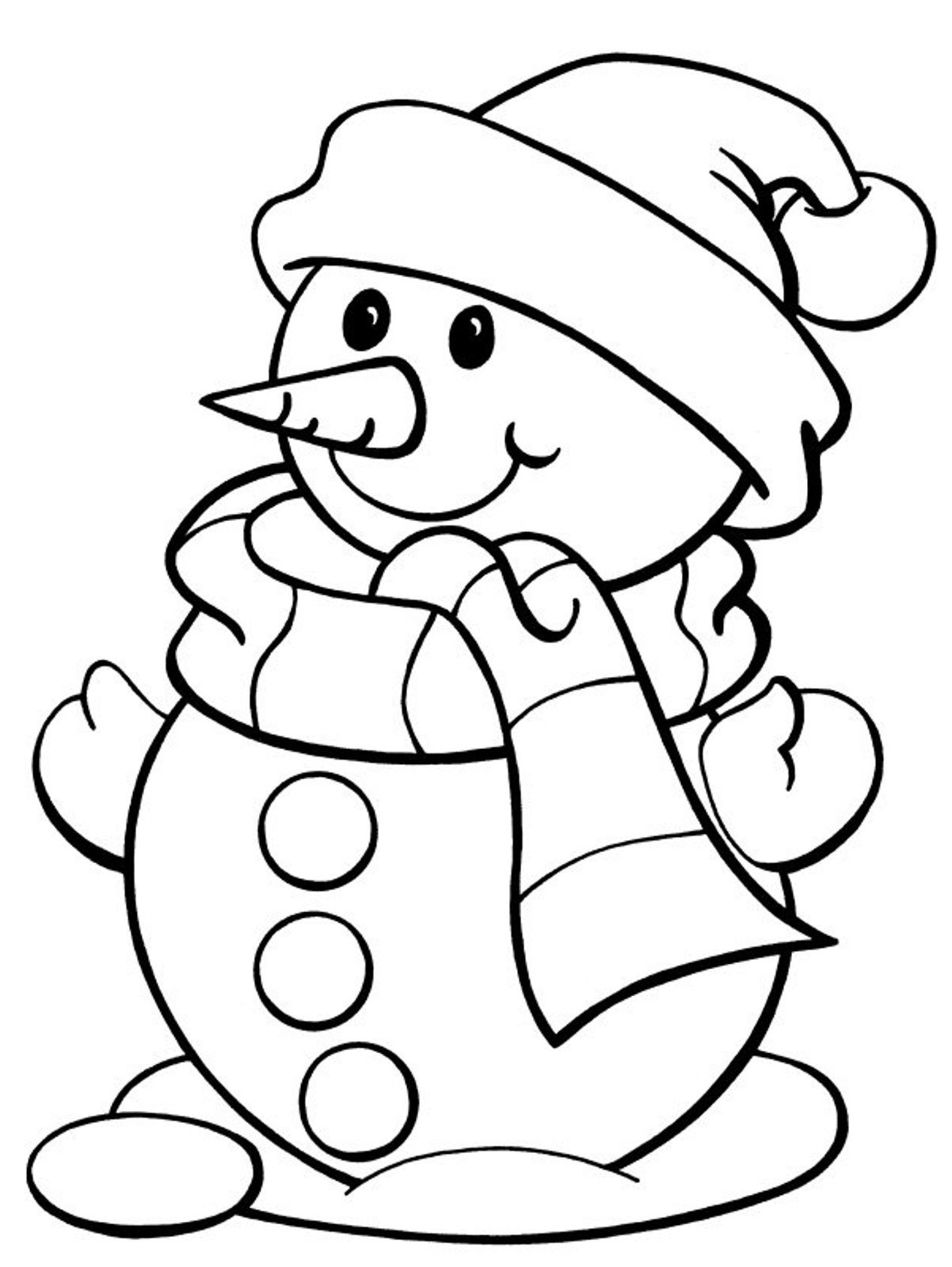 Free Winter Coloring Pages | Coloring Page | Kleurplaten - Christmas - Free Printable Winter Coloring Pages