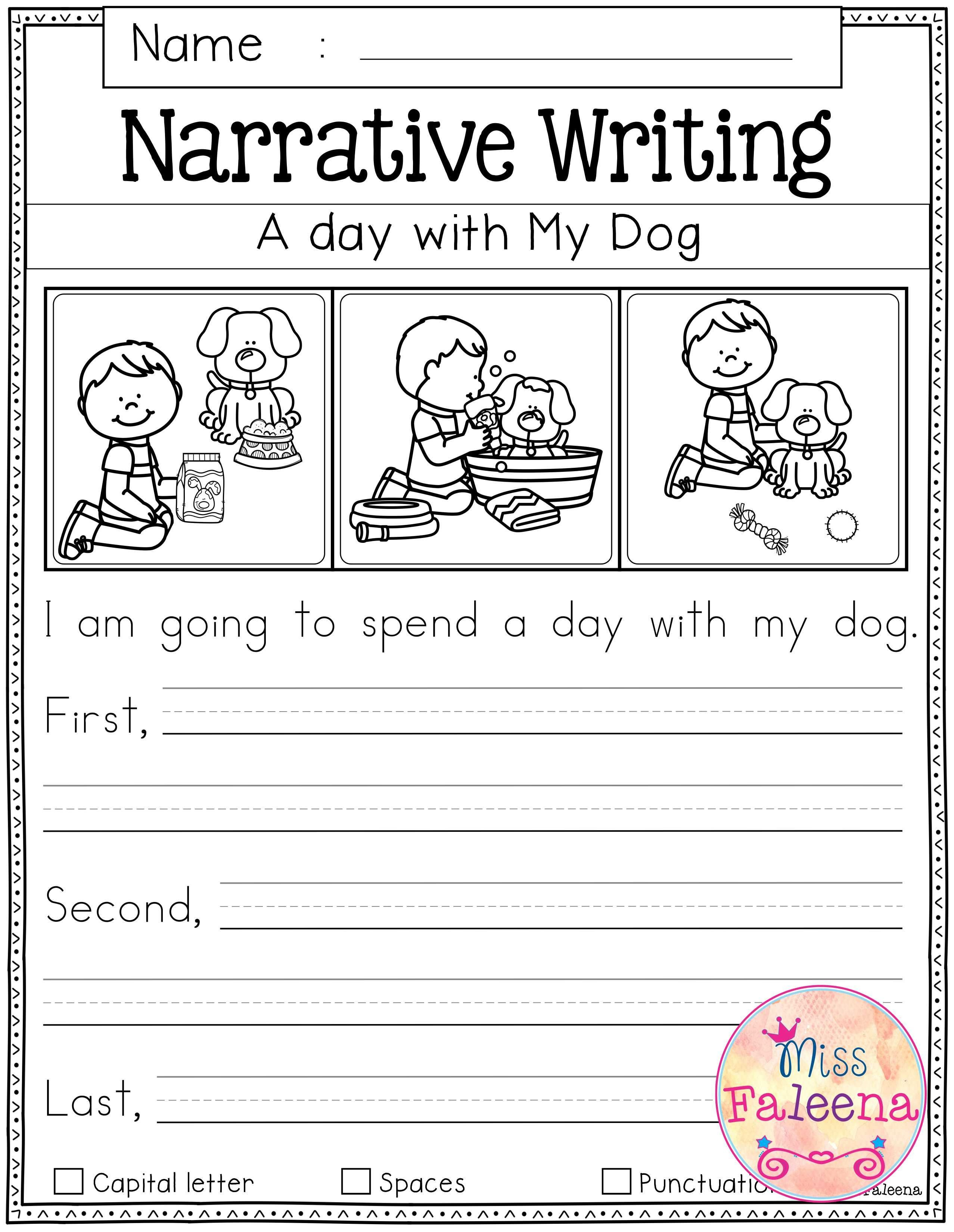 Free Writing Prompts | First Grade Freebies | Kindergarten Writing - Free Printable Language Arts Worksheets For 1St Grade