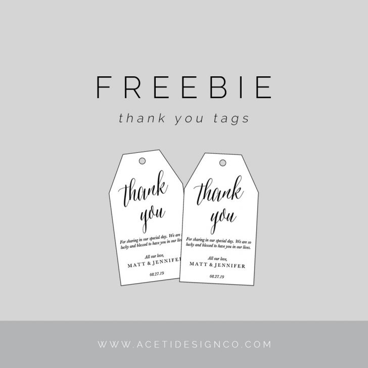 Free Printable Thank You Tags Template