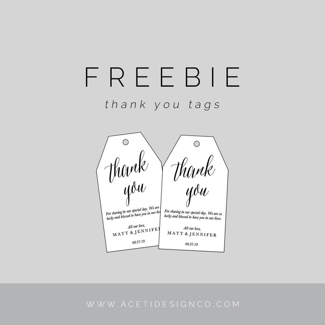 Freebie: Editable Thank You Tags | Gift Tags | Free Printable Gift - Thank You For Coming Free Printable Tags