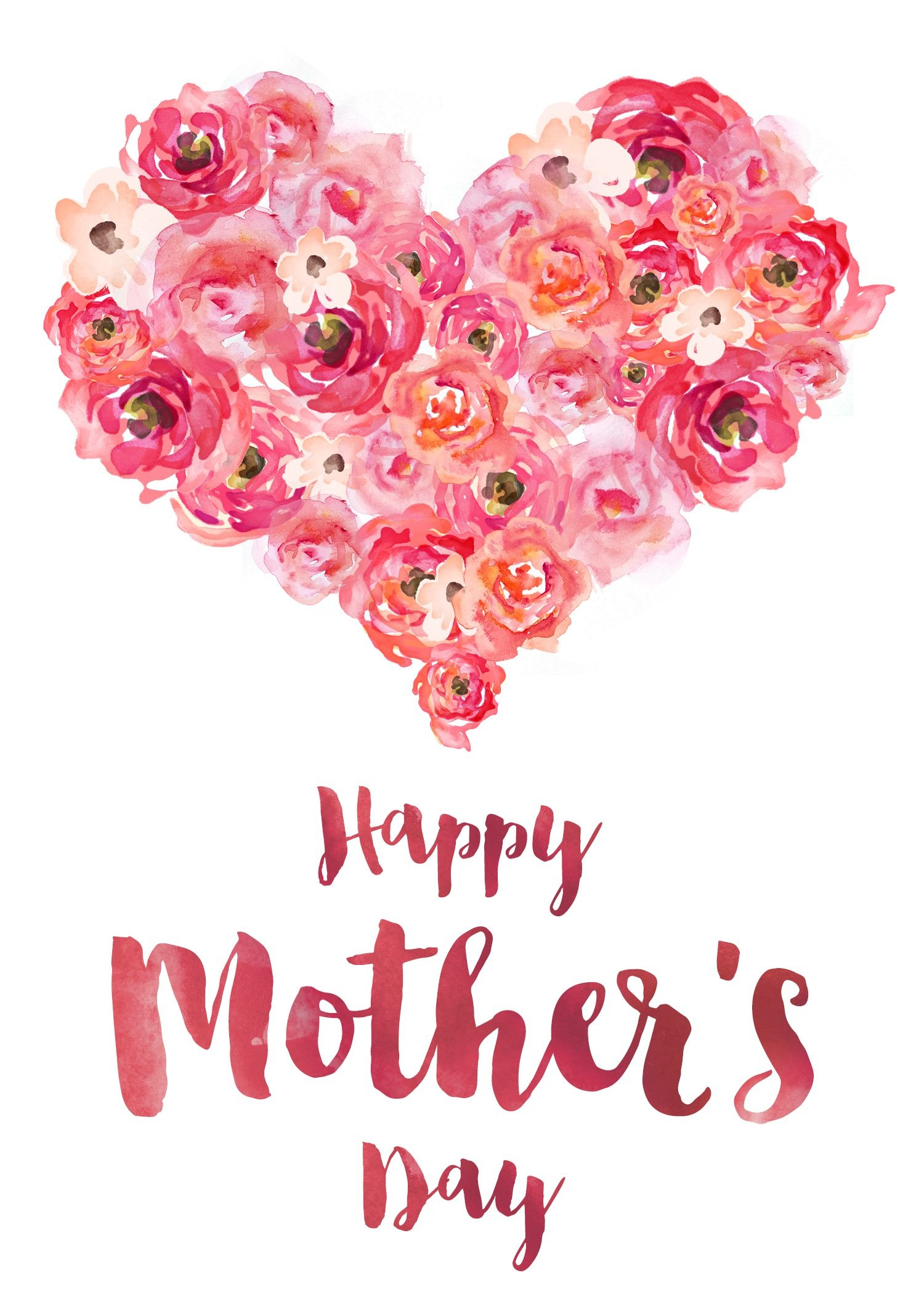 Freebie Friday: Mother's Day Card   Mon   Happy Mother's Day - Free Printable Mothers Day Cards Blue Mountain