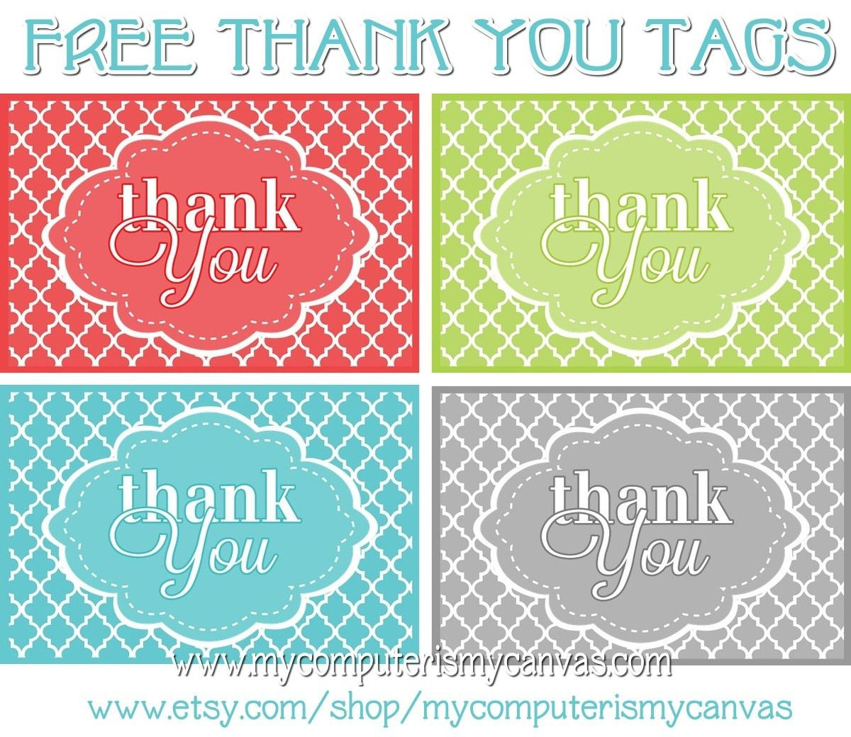 Freebie} Printable Thank You Tags   Primary   Thank You Tags, Thank - Free Printable Thank You Tags