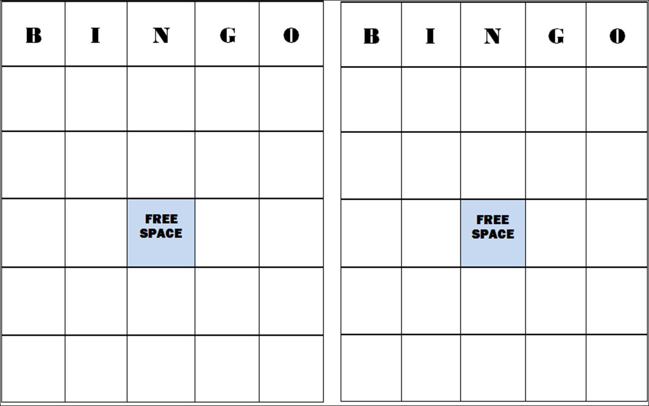 Free+Blank+Bingo+Card+Template   Classroom Stuff   Blank Bingo Cards - Free Printable Blank Bingo Cards