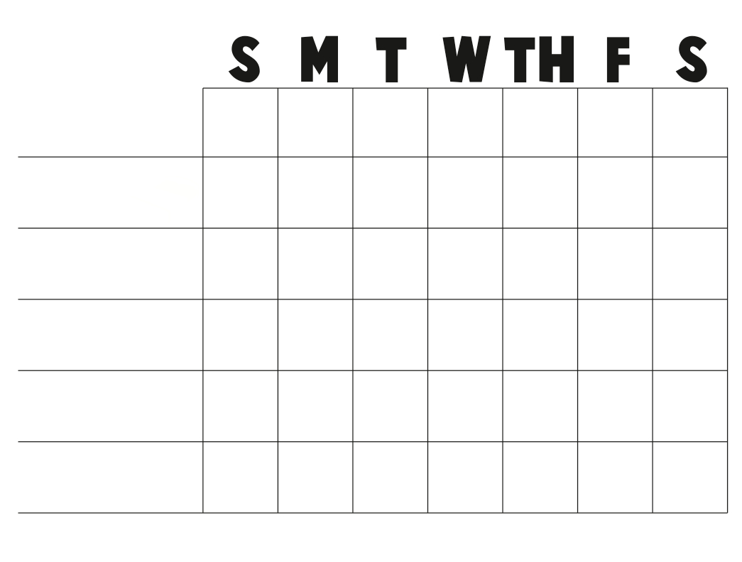 Free+Printable+Blank+Charts | Or A Blank Chart You Can Fill In With - Free Printable Charts