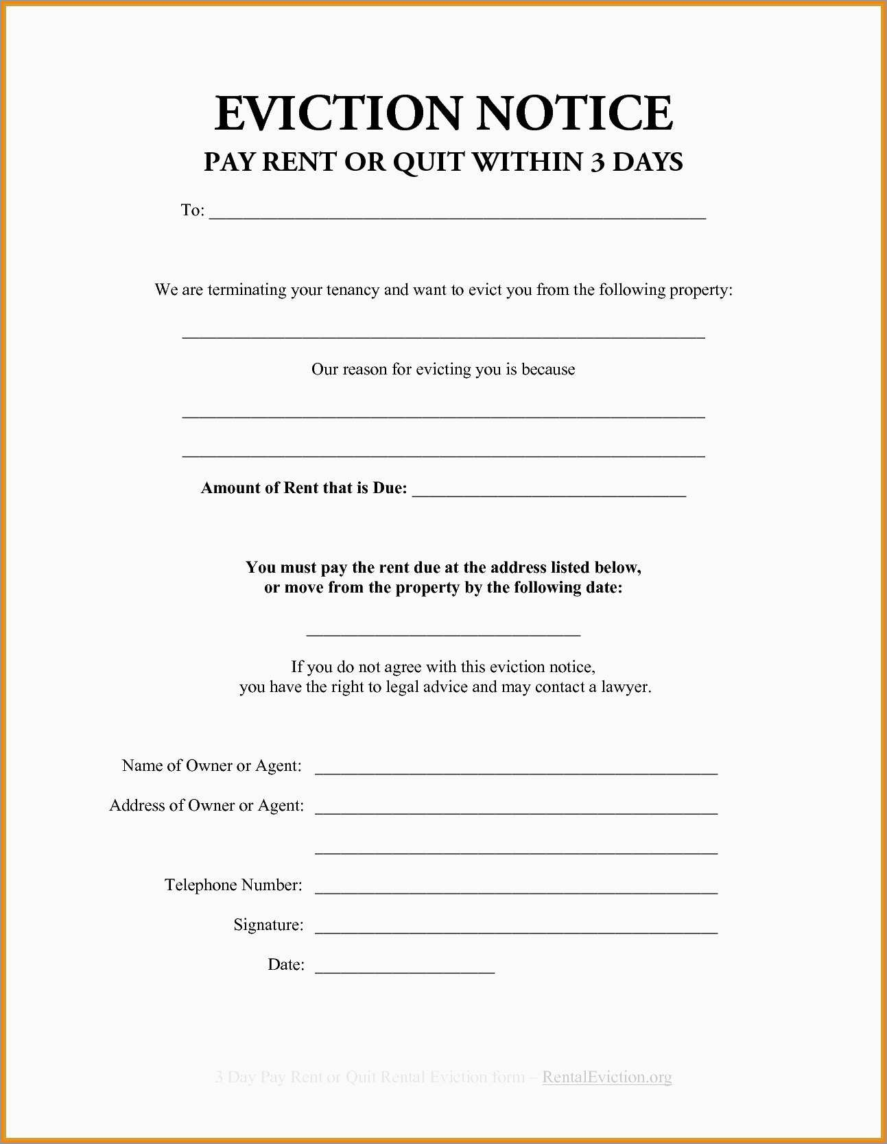 Fresh Free Printable 30 Day Eviction Notice Template   Best Of Template - Free Printable Blank Eviction Notice
