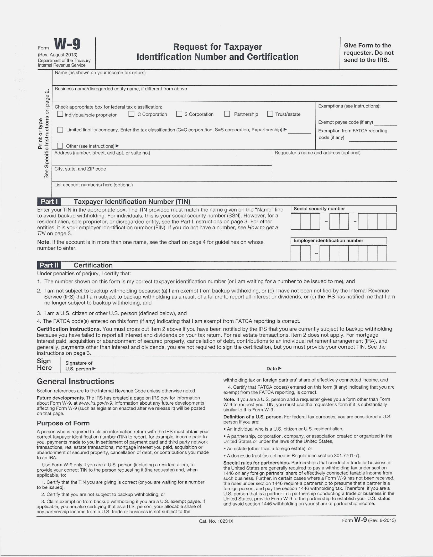 Fresh Free Printable W 14 Form | Downloadtarget – W9 Form Printable - W9 Form Printable 2017 Free