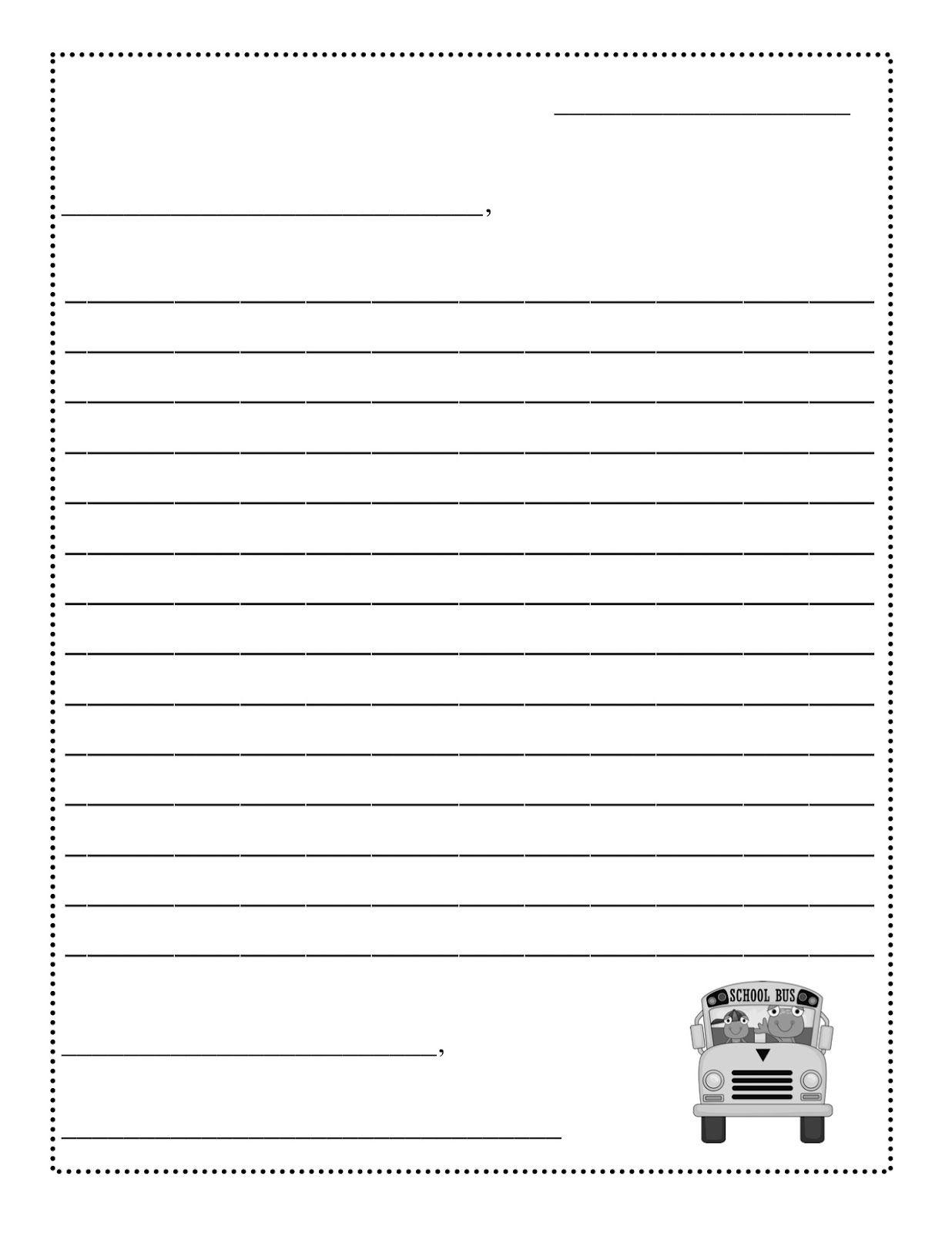 Friendly Letter Templateletter Writing Template Formal Letter Sample - Free Printable Letter Writing Templates