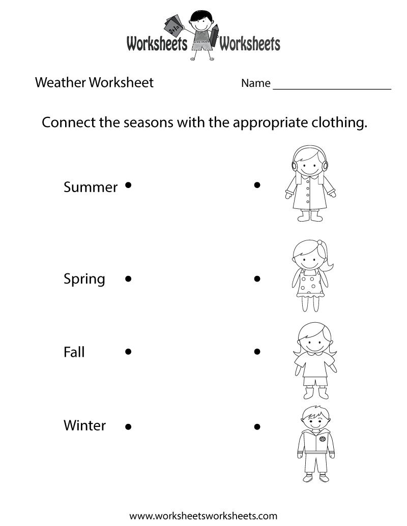 Fun Weather Worksheet Printable | Study Material | Weather - Free Printable Science Worksheets