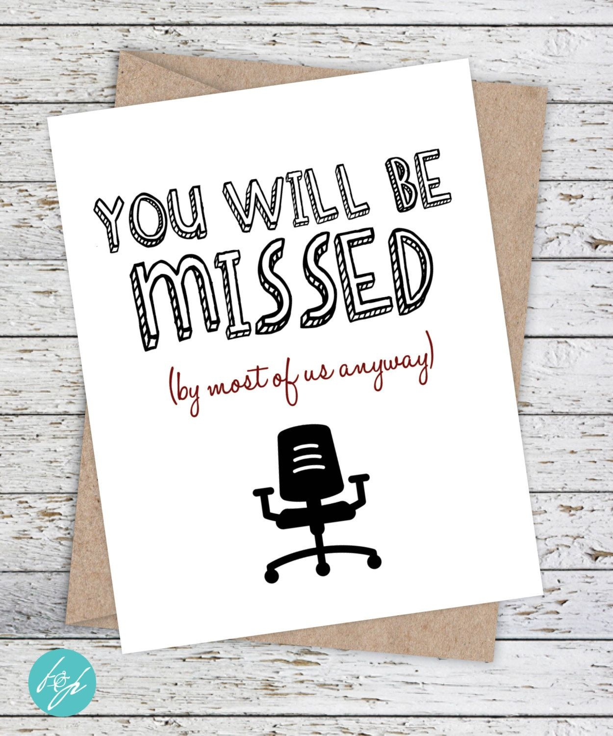 Funny Coworker Card,flairandpaper On Etsy You Will Be Missed (By - Free Printable Farewell Card For Coworker