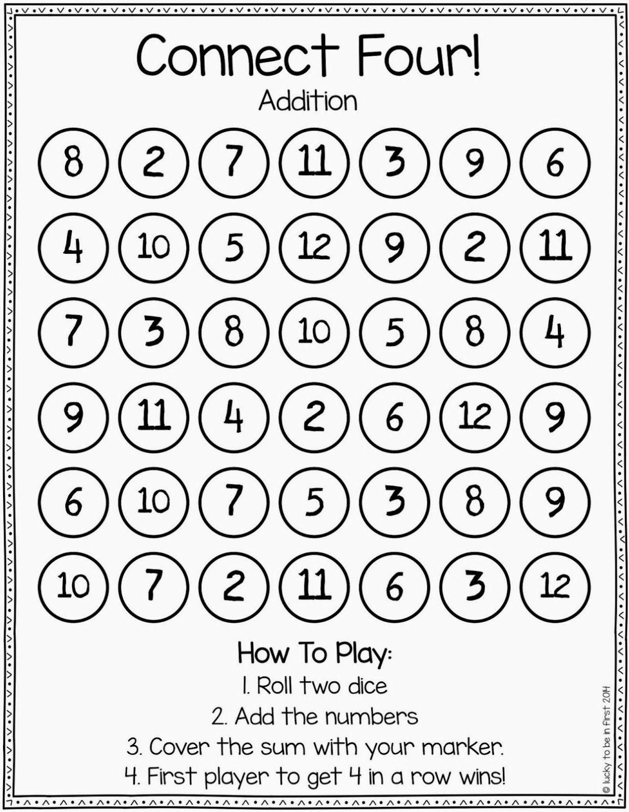 Games To Strengthen Math Skills | Math | Kindergarten Math, Build - Roll A Monster Free Printable