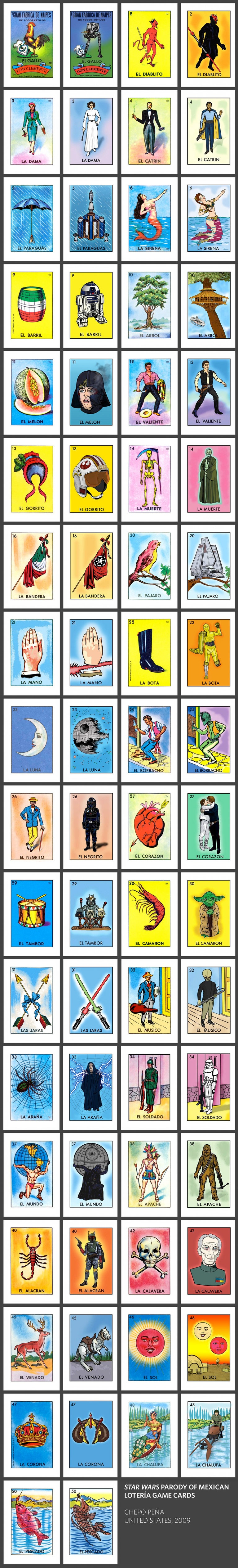 Geek Art: Star Wars Parody Of Mexican Lotería Cards — Geektyrant - Loteria Printable Cards Free
