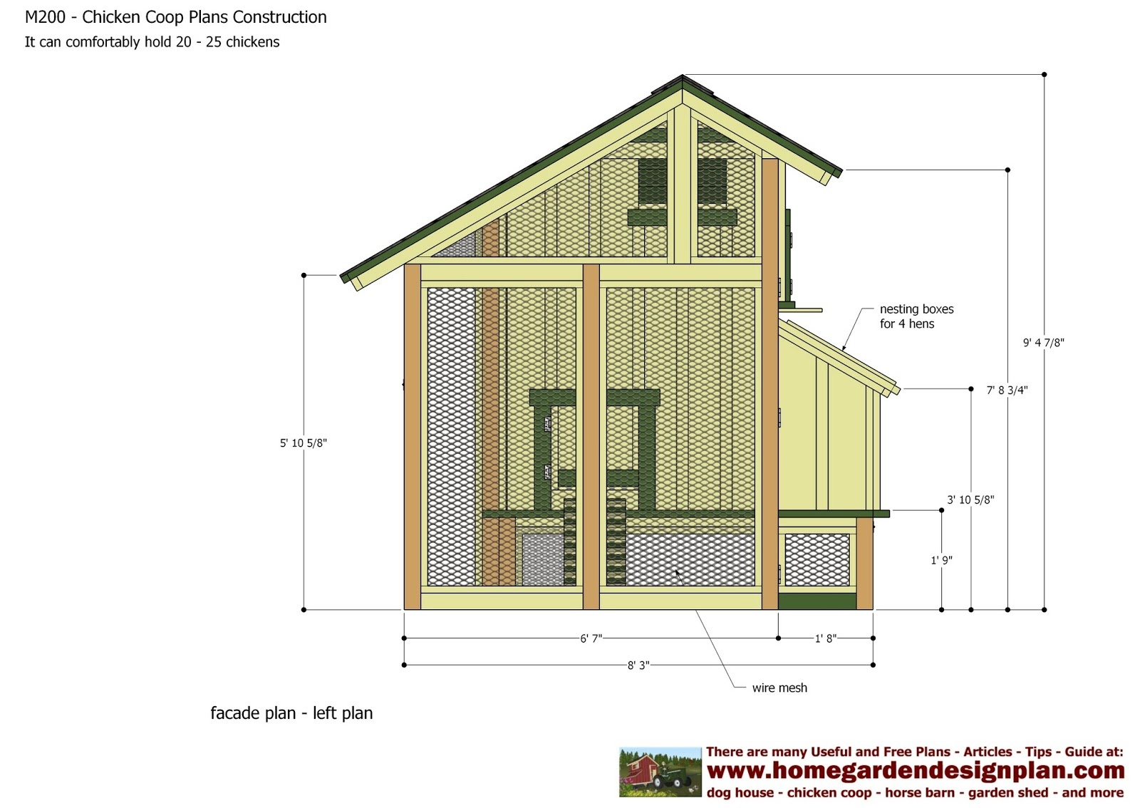 Gellencoop: Free Printable Plans For A Chicken Coop - Free Printable Chicken Coop Plans