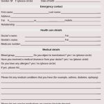 General Medical History Forms (100% Free)   [Word, Pdf]   Free Printable Personal Medical History Forms