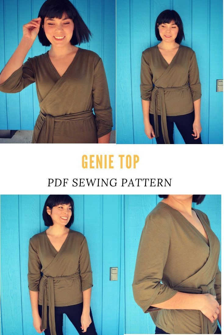 Genie Knit Top Printable Sewing Pattern And Pdf Sewing Tutorial For - Free Printable Plus Size Sewing Patterns