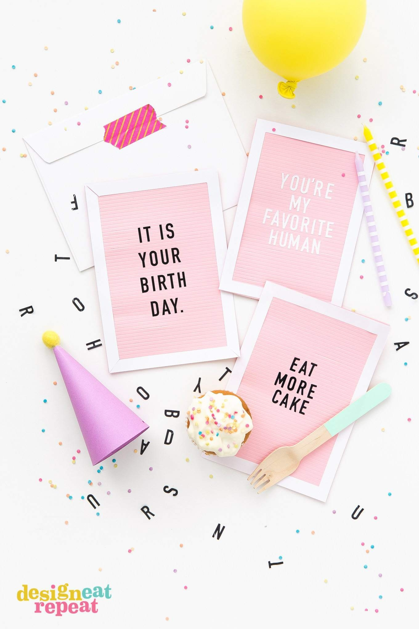 Get Inspiration From 25 Of The Best Diy Birthday Cards - Free Printable Birthday Cards For Her
