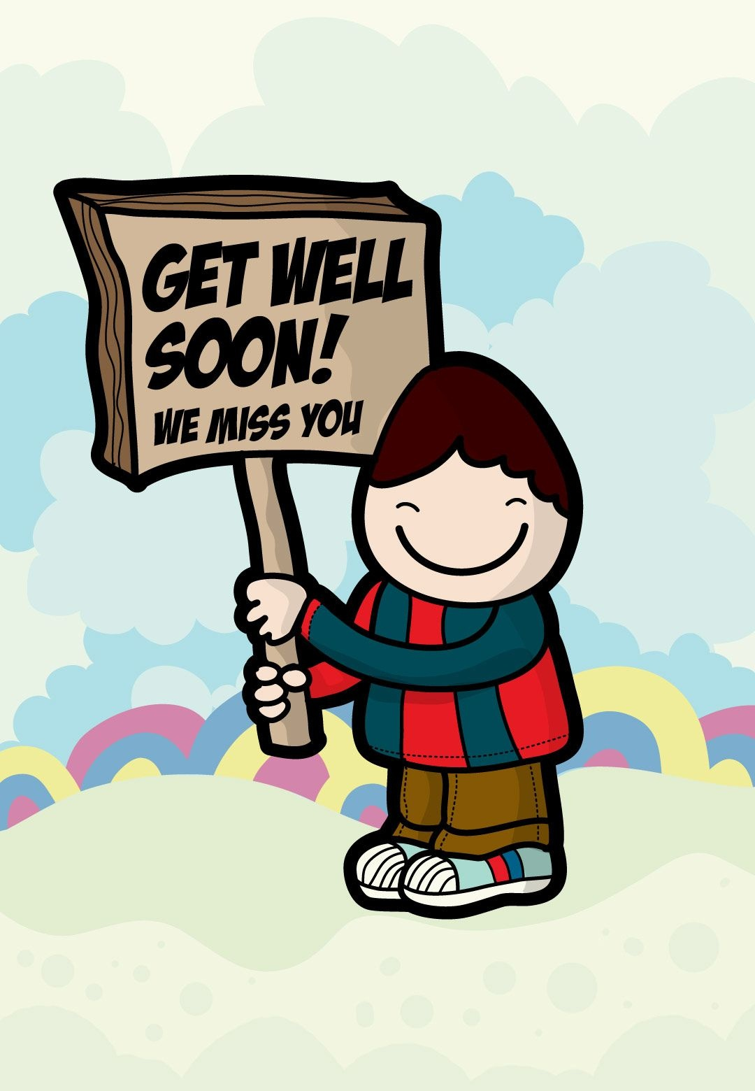 Get Well #card Free Printable We Miss You Greeting Card | Get Well - Free Printable We Will Miss You Greeting Cards