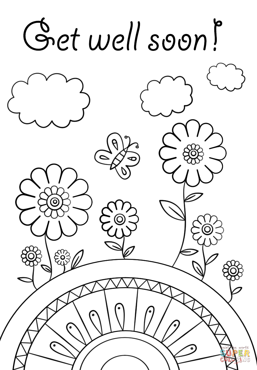 Get Well Soon Coloring Page   Free Printable Coloring Pages   Abe - Free Printable Get Well Soon Cards