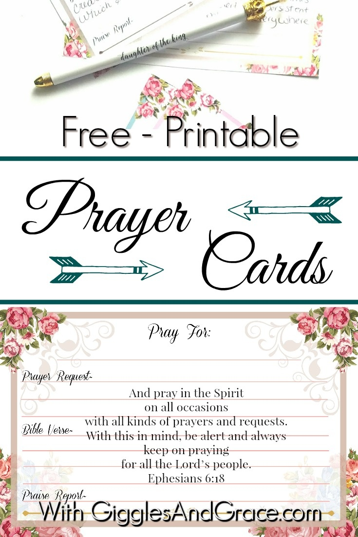 Get Your Free Printable Prayer Cards - With Giggles & Grace - Free Printable Cards For All Occasions