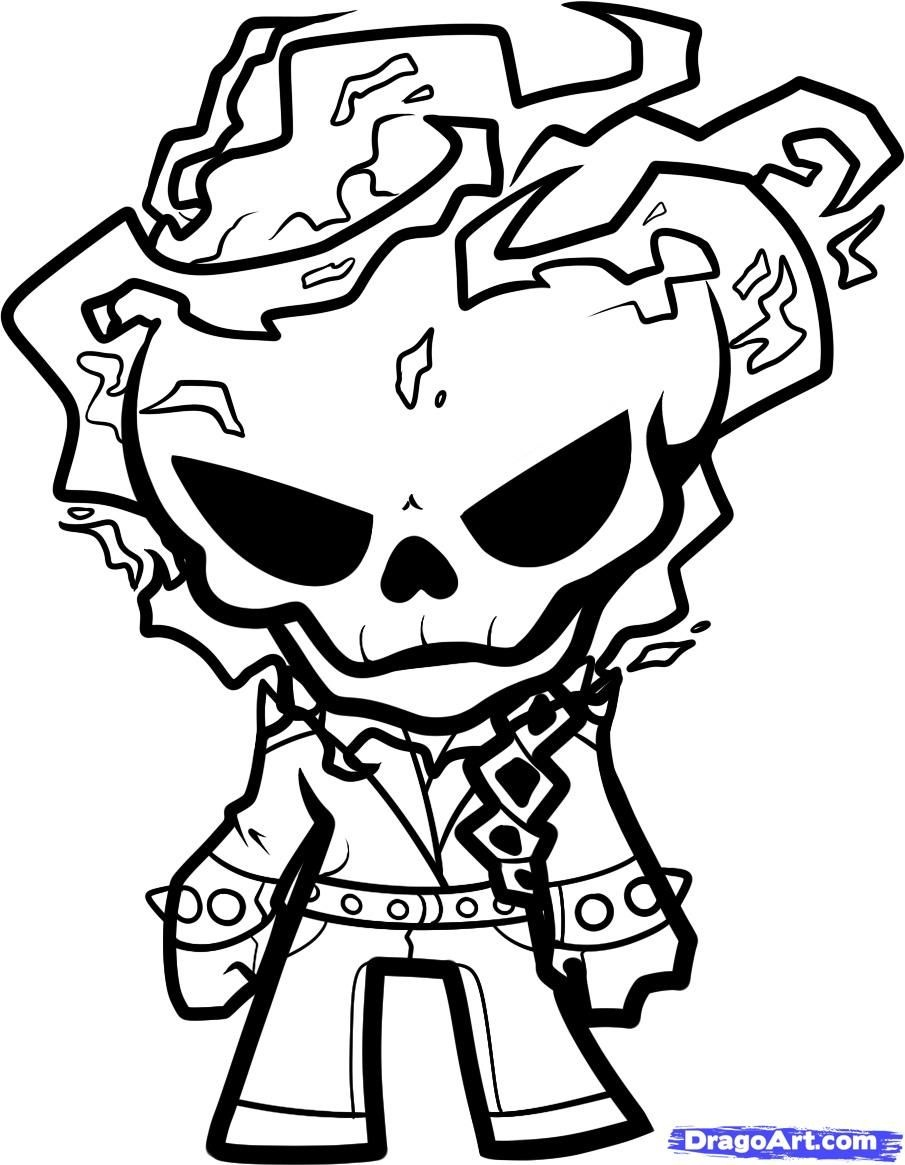 Ghost Rider Coloring Page   Boo In The Zoo Cut Out Ideas   Ghost - Free Printable Ghost Rider Coloring Pages