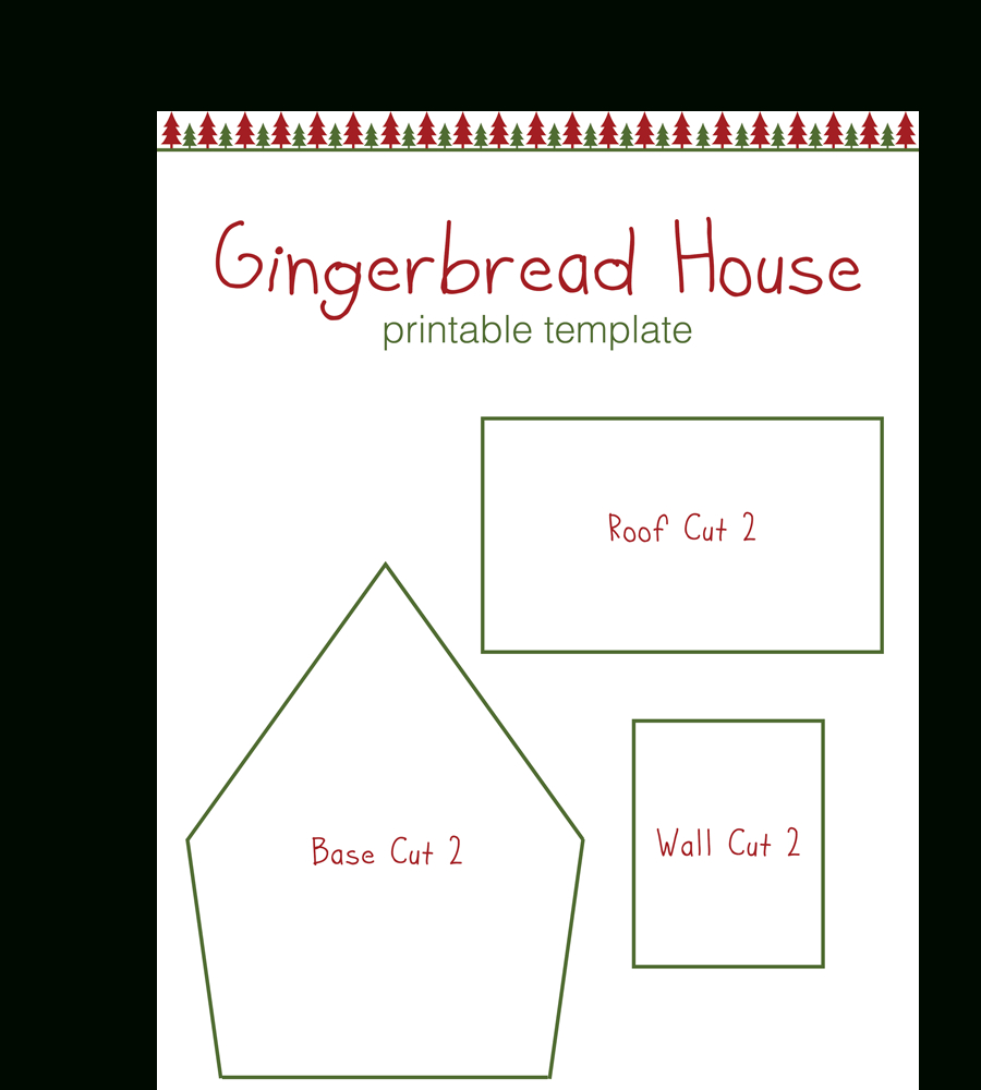 Gingerbread House Templates For Free | Temploola - Gingerbread Template Free Printable