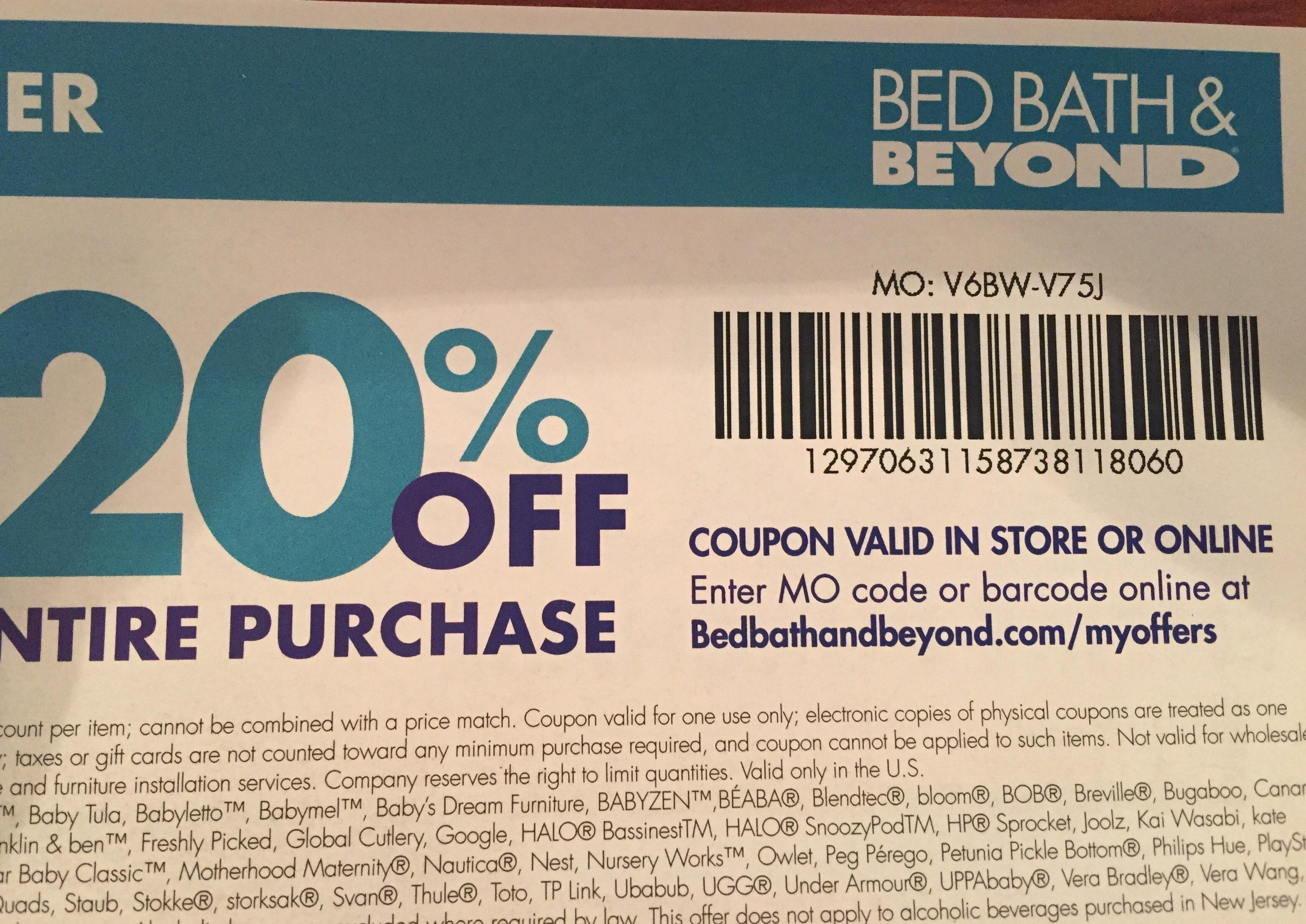 Giving Back - Bed Bath & Beyond 20% Off Entire Purchase - Special - Free Printable Bed Bath And Beyond 20 Off Coupon