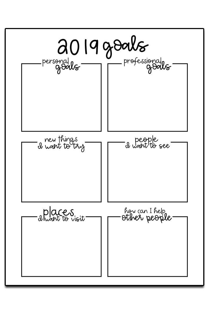Goal Setting Worksheets - 3 Free Goal Planner Printables - Free Printable Goal Setting Worksheets For Students