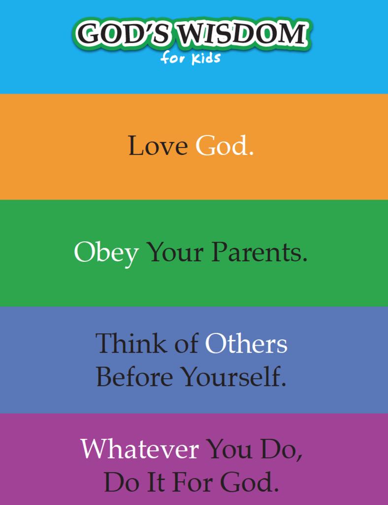 God's Wisdom For Kids Free Printable | Books Of The Bible Children's - Free Printable Children's Church Curriculum