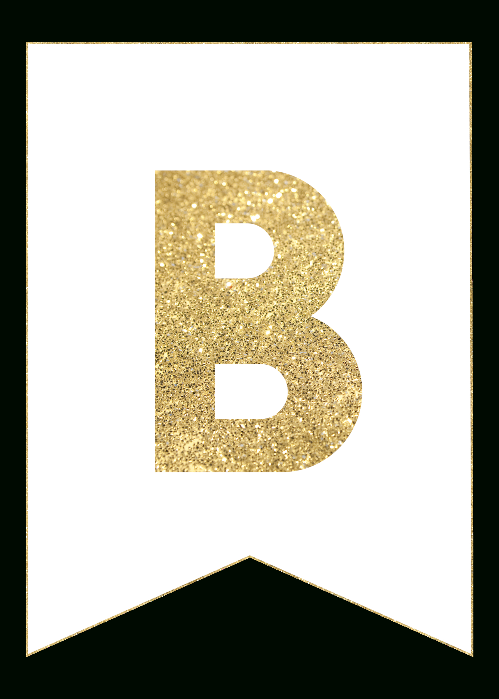 Gold Free Printable Banner Letters - Paper Trail Design - Free Happy Birthday Printable Letters