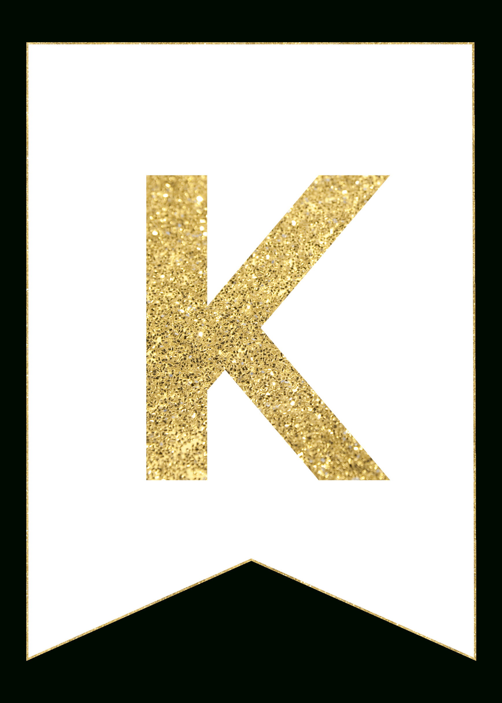 Gold Free Printable Banner Letters - Paper Trail Design - Free Printable Whole Alphabet Banner