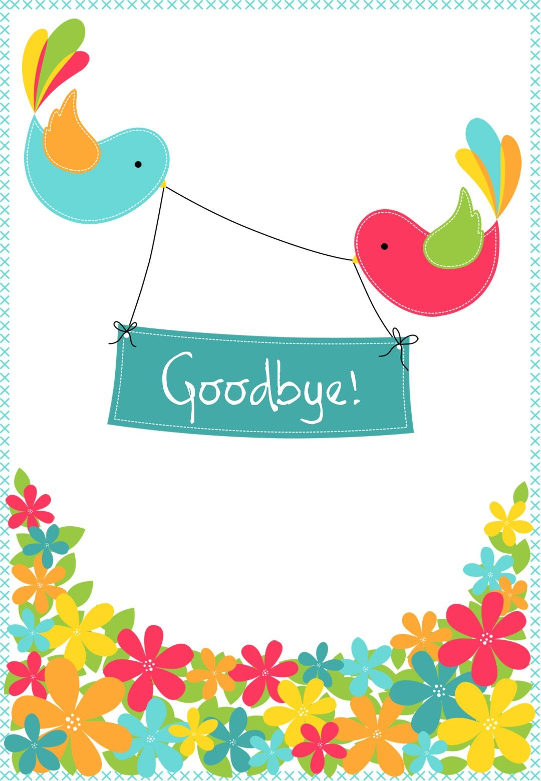 Goodbye From Your Colleagues - Free Good Luck Card | Greetings - Free Printable Goodbye Cards