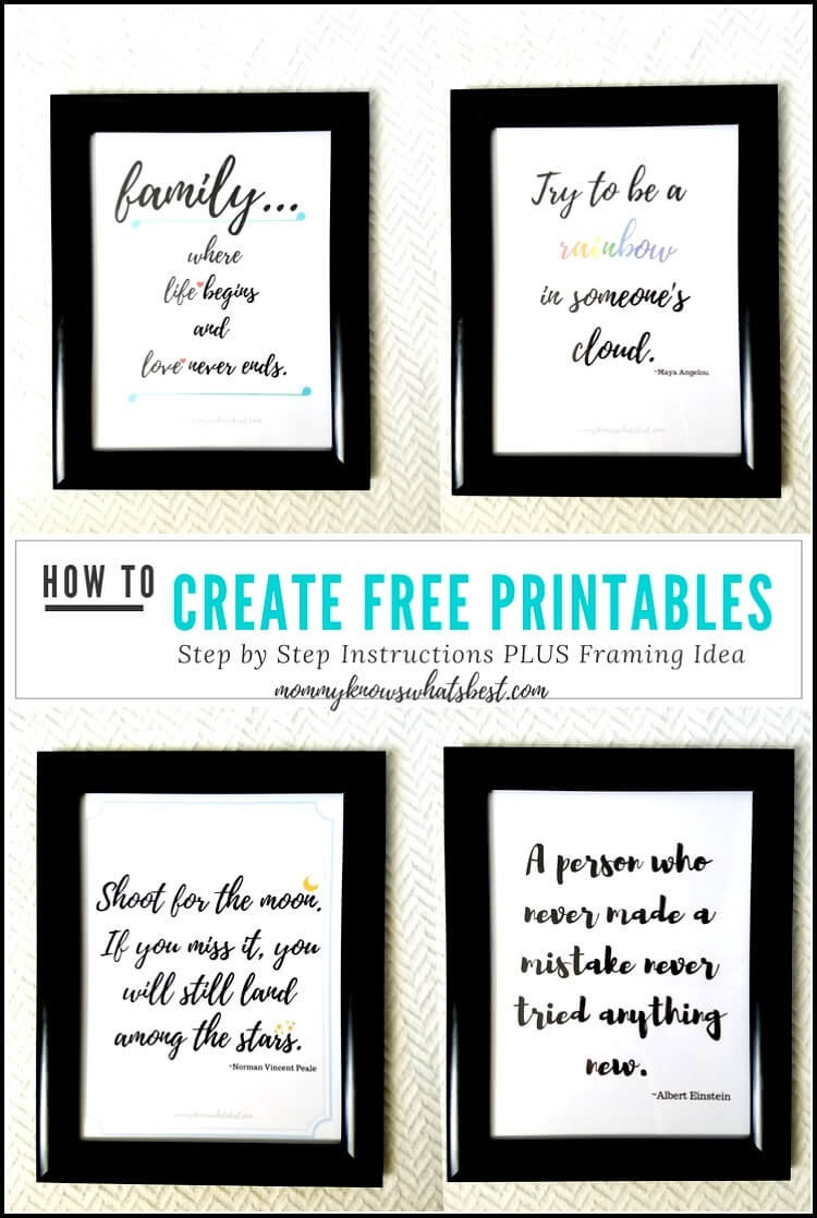 Got Quotes? Learn How To Create Printable Quotes To Frame Using Canva - Free Printable Quotes