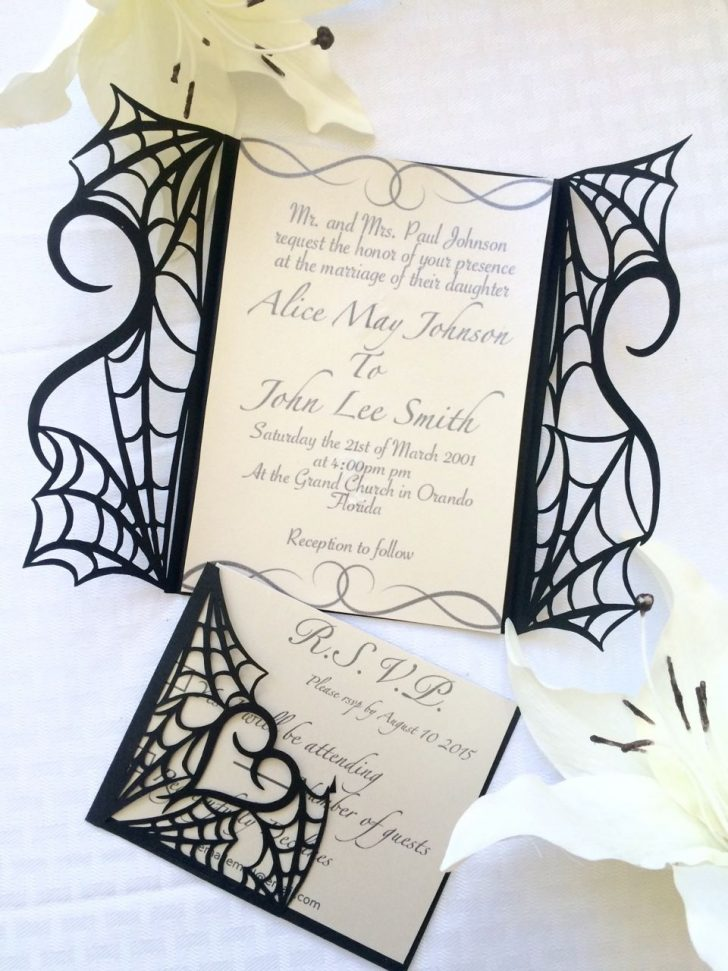 Free Printable Halloween Wedding Invitations
