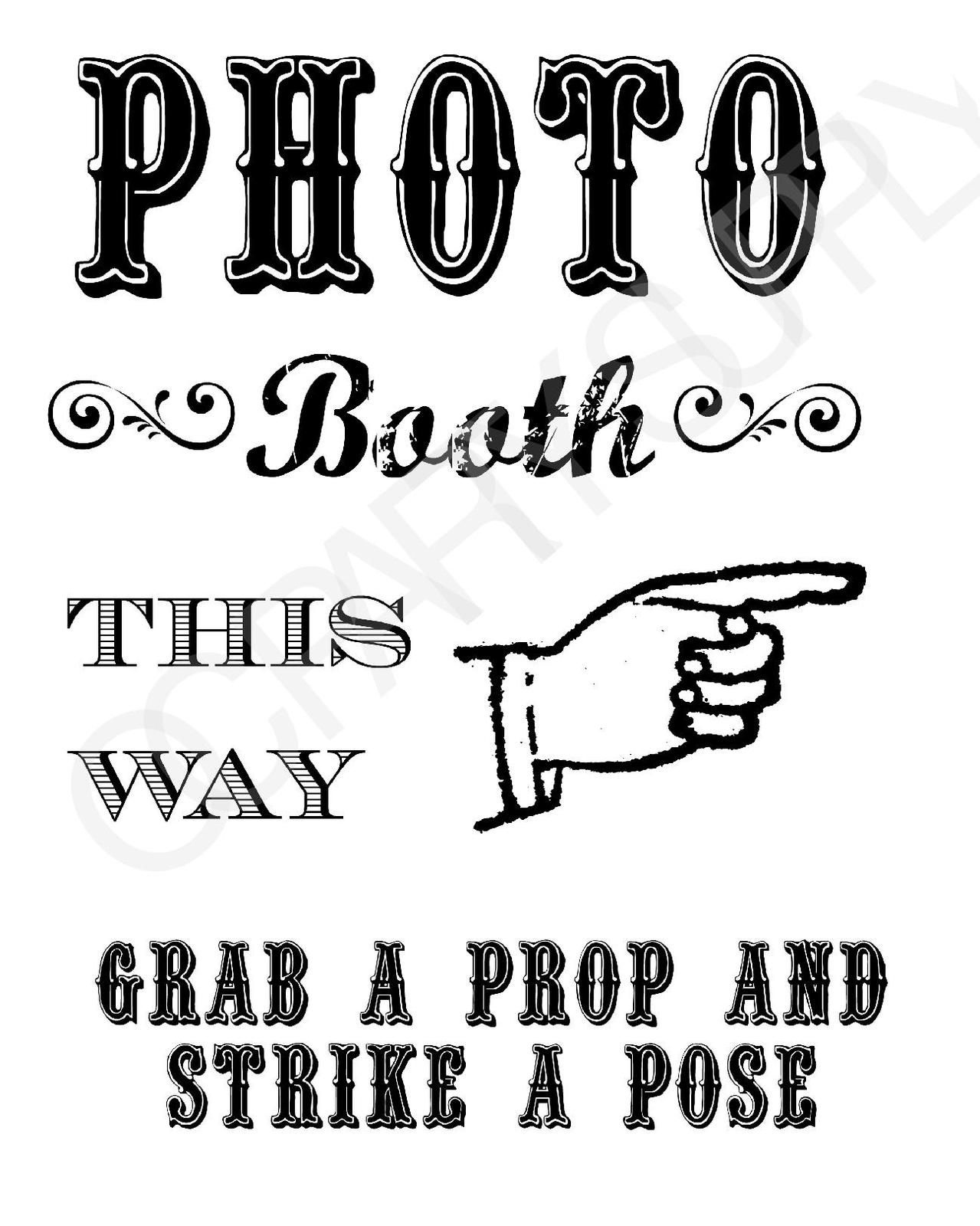Grab A Prop & Strike A Pose! {Free} Printable Photo Booth Sign - Selfie Station Free Printable